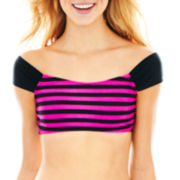 Arizona Off-the-Shoulder Swim Crop Top - Juniors