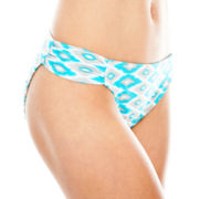 Arizona Tribal Print Side-Tab Hipster Swim Bottoms - Juniors