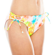 Arizona Floral Print Keyhole Hipster Swim Bottoms - Juniors