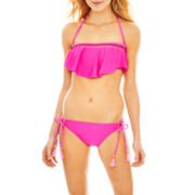 Arizona Hanky Bandeau Swim Top or Hipster Bottoms - Juniors