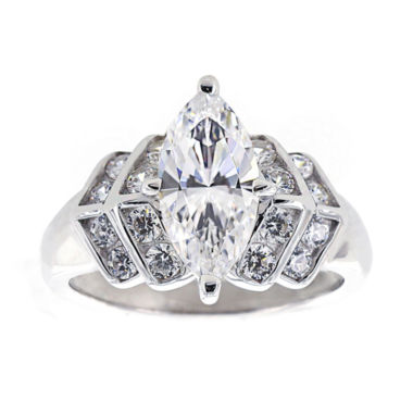 jcpenney.com | DiamonArt® Cubic Zirconia Sterling Silver Marquise Ring