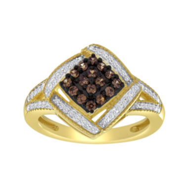 jcpenney.com | 1/3 CT. T.W. White & Champagne Diamond Frame Ring