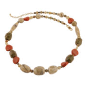 Art Smith by BARSE Multi-Gemstone Brass Necklace