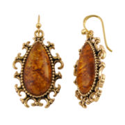 Art Smith by BARSE Genuine Amber Brass Earrings