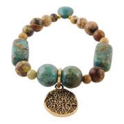 Art Smith by BARSE Multi-Stone Stretch Brass Bracelet