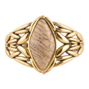 Art Smith by BARSE Genuine Jasper Brass Cuff Bracelet