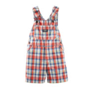 OshKosh B'gosh® Plaid Shortalls - Boys 3m-24m
