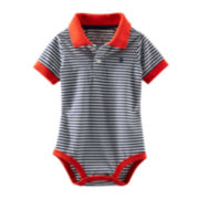 OshKosh B'gosh® Short-Sleeve Polo Bodysuit – Boys 3m-24m