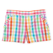 Okie Dokie® Ruffle-Pocket Flat-Front Shorts - Girls 2t-5t