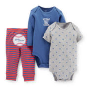 Carter's® 3-pc. Bodysuits and Pants Set – Boys newborn-24m