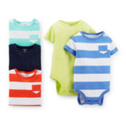 Carter's® 5-pk. Short-Sleeve Bodysuits – Boys newborn-24m