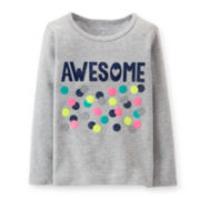 Carter's® Long-Sleeve Graphic Tee – Girls 6-24m