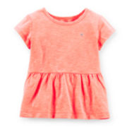 Carter's® Cap-Sleeve Peplum Tee - Girls 6-24m