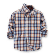 Carter's® Long-Sleeve Button-Front Plaid Shirt – Boys 6-24m