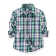 Carter's® Long-Sleeve Button-Front Plaid Shirt - Boys 6-24m