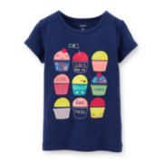 Carter's® Short-Sleeve Graphic Cupcake Tee - Girls 2t-5t