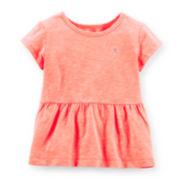 Carter's® Cap-Sleeve Peplum Tee – Girls 4-6x