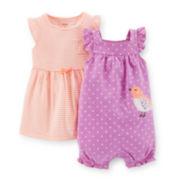 Carter's® 3-pc. Romper and Dress Set - Girls newborn-24m