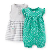 Carter's® 3-pc. Romper and Dress Set - Girls newborn-24m
