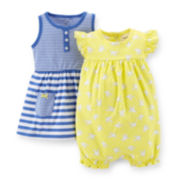 Carter's® 3-pc. Romper and Dress Set – Girls newborn-24m