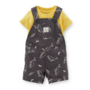 Carter's® 2-pc. Solid Tee and Whale-Print Shortalls Set – Boys newborn-24m