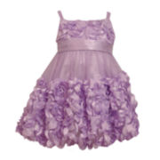 Bonnie Jean® Sleeveless Lavender Tiered Dress - Girls 2t-4t