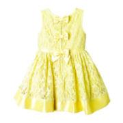 Pinky Sleeveless Lace Babydoll Dress - Girls 2t-4t