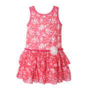 Pinky Sleeveless Drop-Waist Dress - Girls 2t-4t