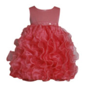 Bonnie Jean® Sleeveless Vertical Ruffle Dress - Girls 2t-4t