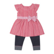 Little Lass 2-pc. Pink Shirt and Capri Set - Girls 2t-4t
