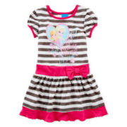 Disney Frozen Short-Sleeve Ribbed Dress - Girls 2t-4t