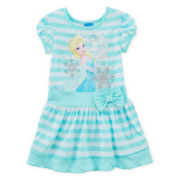 Disney Frozen Short-Sleeve Ribbed Dress - Girls 4-6x