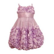 Bonnie Jean® Sleeveless Lavender Tiered Dress - Girls 4-6x