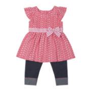Little Lass 2-pc. Pink Shirt and Capri Set - Preschool Girls 4-6x