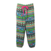 Pinky Tribal Print Drawstring Pants - Girls 4-6x