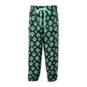 Pinky Jade and Black Drawstring Pants - Girls 4-6x