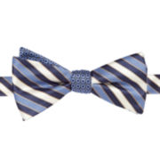 Stafford® Ranger Stripe Reversible Self-Tie Bow Tie
