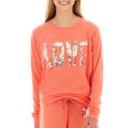 Floral Love Long-Sleeve Graphic Sweatshirt