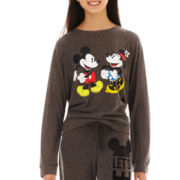 Mickey and Minnie Mouse Long-Sleeve Graphic Sweatshirt