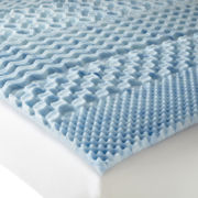 "Isotonic® Swirl Gel 7-Zone 1½"" Memory Foam Mattress Topper"