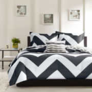 Mizone Pisces Reversible Chevron Duvet Cover Set