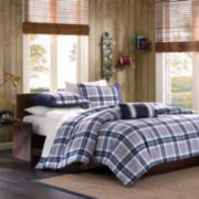 Mizone Alton Plaid Duvet Cover Set