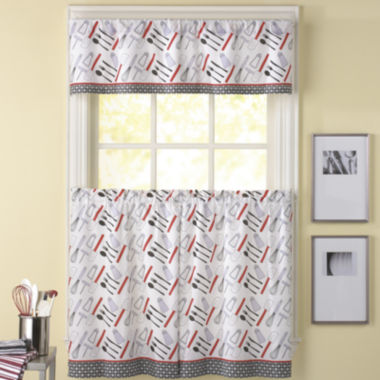 jcpenney.com | Cutlery 3-pc. Rod-Pocket Kitchen Curtain Set