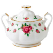 Royal Albert® White Vintage Covered Sugar Bowl