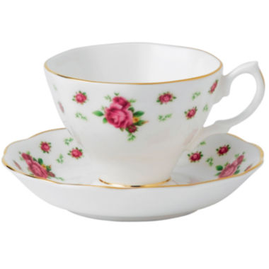 jcpenney.com | Royal Albert® White Vintage Teacup and Saucer Set