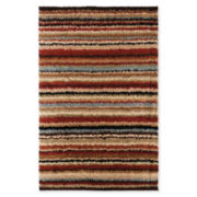 Concepts Stripe Shag Rectangular Rug