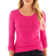 jcp™ Long-Sleeve Crewneck Tee