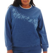 Alfred Dunner® Better Together Long-Sleeve Embroidered Knit Top - Plus