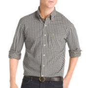 IZOD® Long-Sleeve Small Plaid Woven Shirt