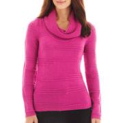 Worthington® Long-Sleeve Textured Cowlneck Sweater
